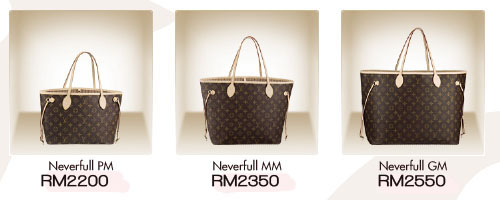louis vuitton neverfull pm    mm    gm