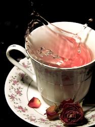 tè alla rosa...