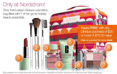 Sassy Fashionista: Clinique Gift With Purchase at Nordstrom