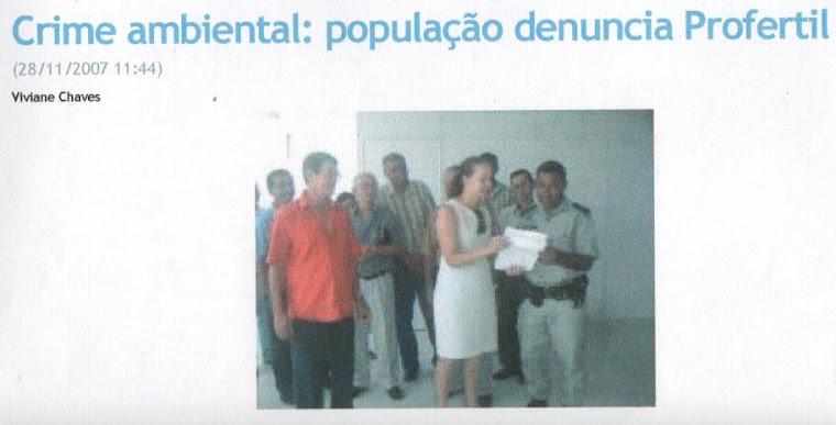 POPULAÇÃO DENUNCIA PROFERTIL ! EU JOÃO PEREIRA ESTAVA LÁ, NESTA GRANDE LUTA!!