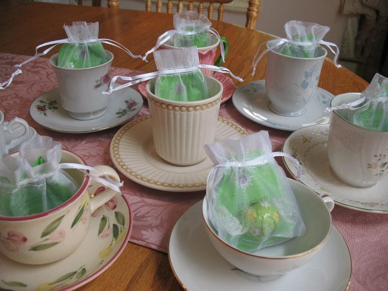 Stop and smell the chocolates tea for two sday tea cup for Teacup party favors