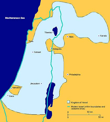 Map Of Palestine In The Time Of Christ. By Jesus Christ#39;s time,