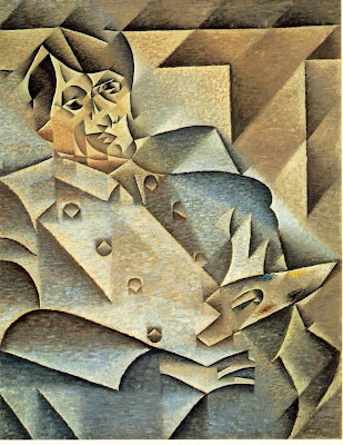 Juan Gris Cubist portrait of Picasso - rubbish!