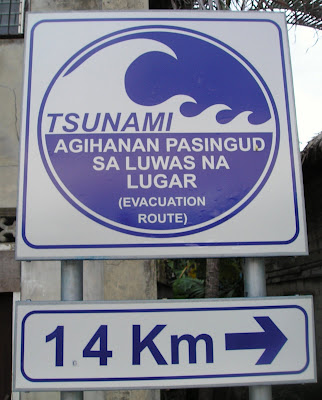 Tsunami notice 2 from Siargao Island, NE Mindanao, Philippines, home of Cloud 9 surfing spot
