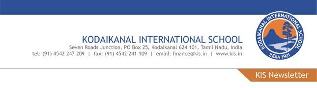 Principal's Newsletter - Kodaikanal International School