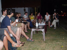 SRI LANKA: The student group enjoying the evening.