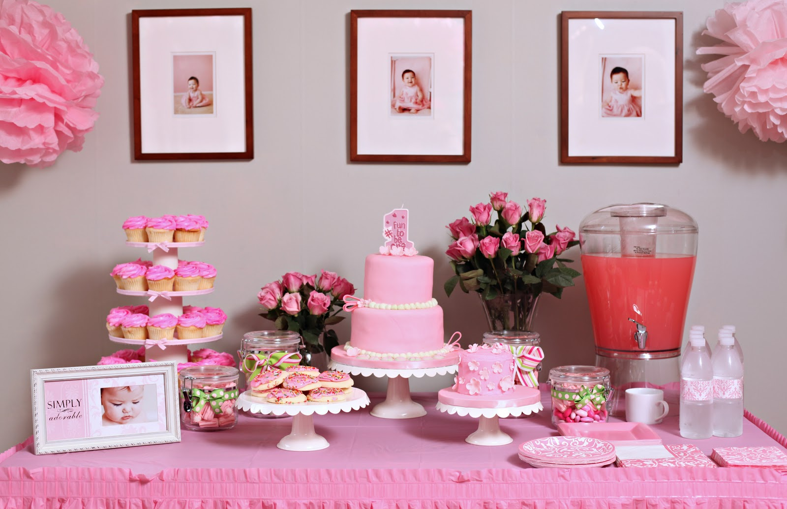 swanky chic fete cady s pink party first birthday party