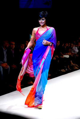 Models walk the ramp at Satya Paul's show at Lakme Fashion Week 2010 picture