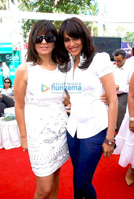 Genelia D'souza and Sonia Mehra at Elle Race pics