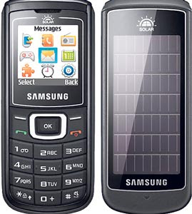 Samsung Guru E1107 Solar Guru, World's First Solar Mobile Phone Launched in India