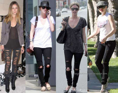 ripped denim on celebs!