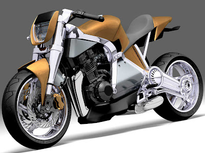 CAF-E Tim Cameron's supercharged hybrid motorcycle concept