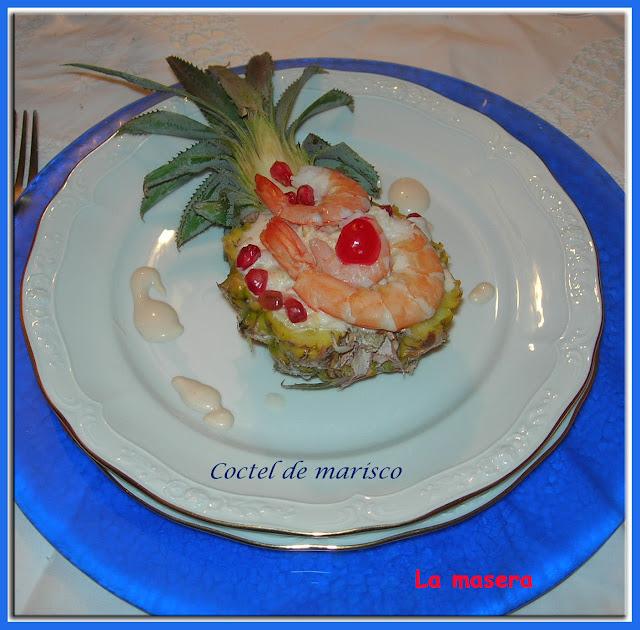 La masera coctel de marisco con pi a - Coctel de marisco ingredientes ...