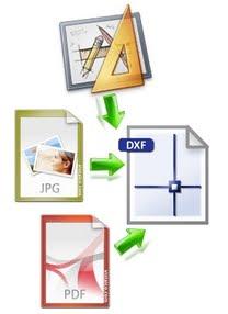 Convertire in DXF disegni cartacei o formato Immagine / PDF