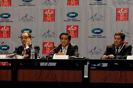 José Antonio Chang, Ministro de Educación junto a viceministros Idel Vexler y Raúl Díaz Chávez.