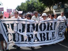 MARCHA NACIONAL, FUJIMORI CULPABLE