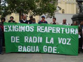 """PLANTÓN POR RADIO """"LA VOZ"""" DE BAGUA"""