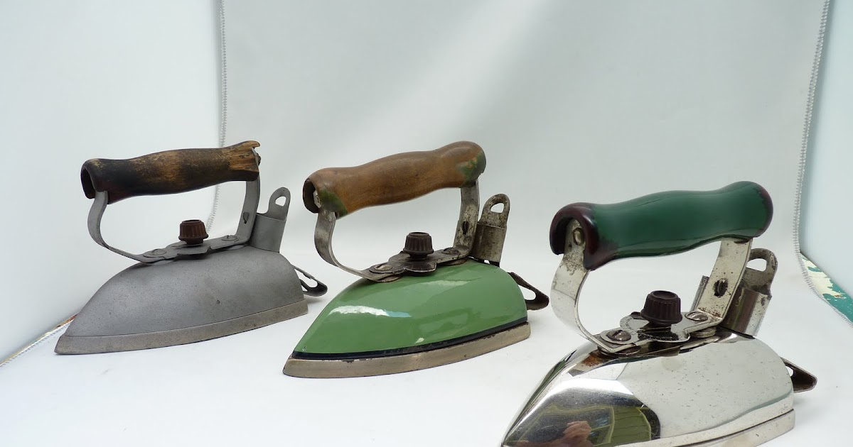 First Electric Iron ~ Vintage electric irons first adjustable thermostat iron