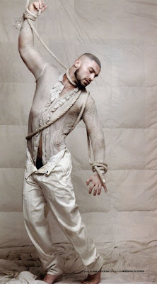 Six Pack Washboard Abs Muscles: Francois Sagat, French Arab Model