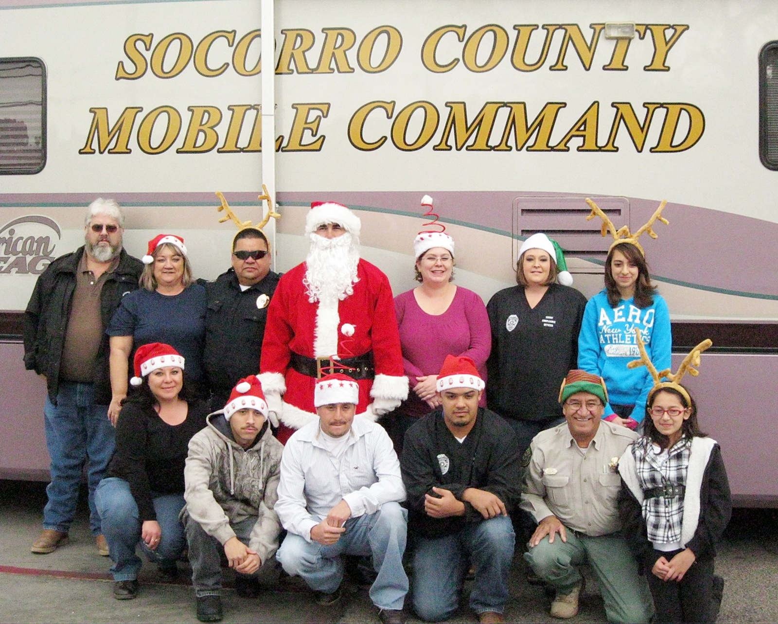 New mexico socorro county magdalena -  Elves And Reindeer From The Socorro County Sheriff S Dept Socorro County Emergency Services And Socorro City Police Helped Santa Claus Deliver An Early