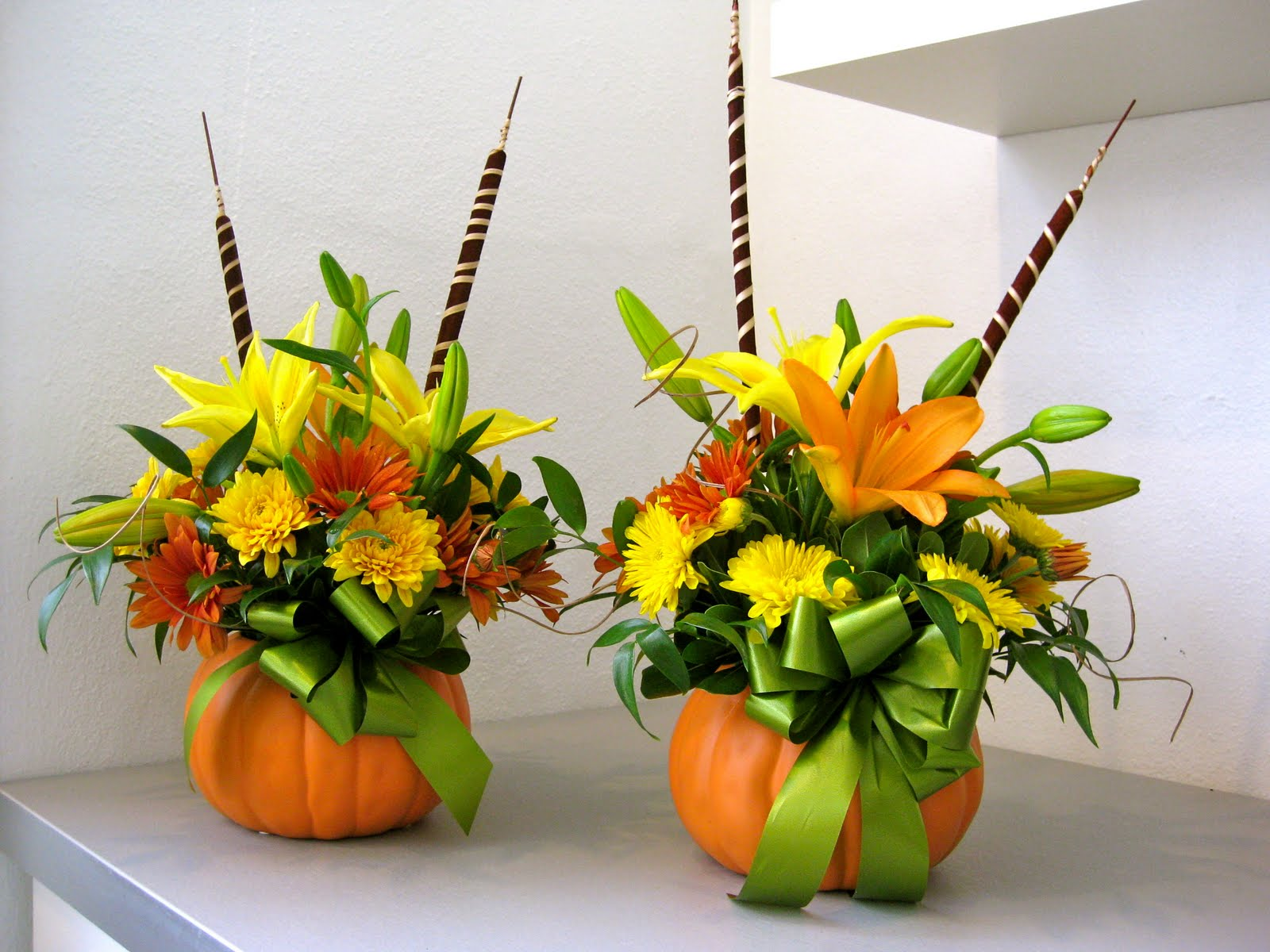 Petals paper boutique thanksgiving centerpieces