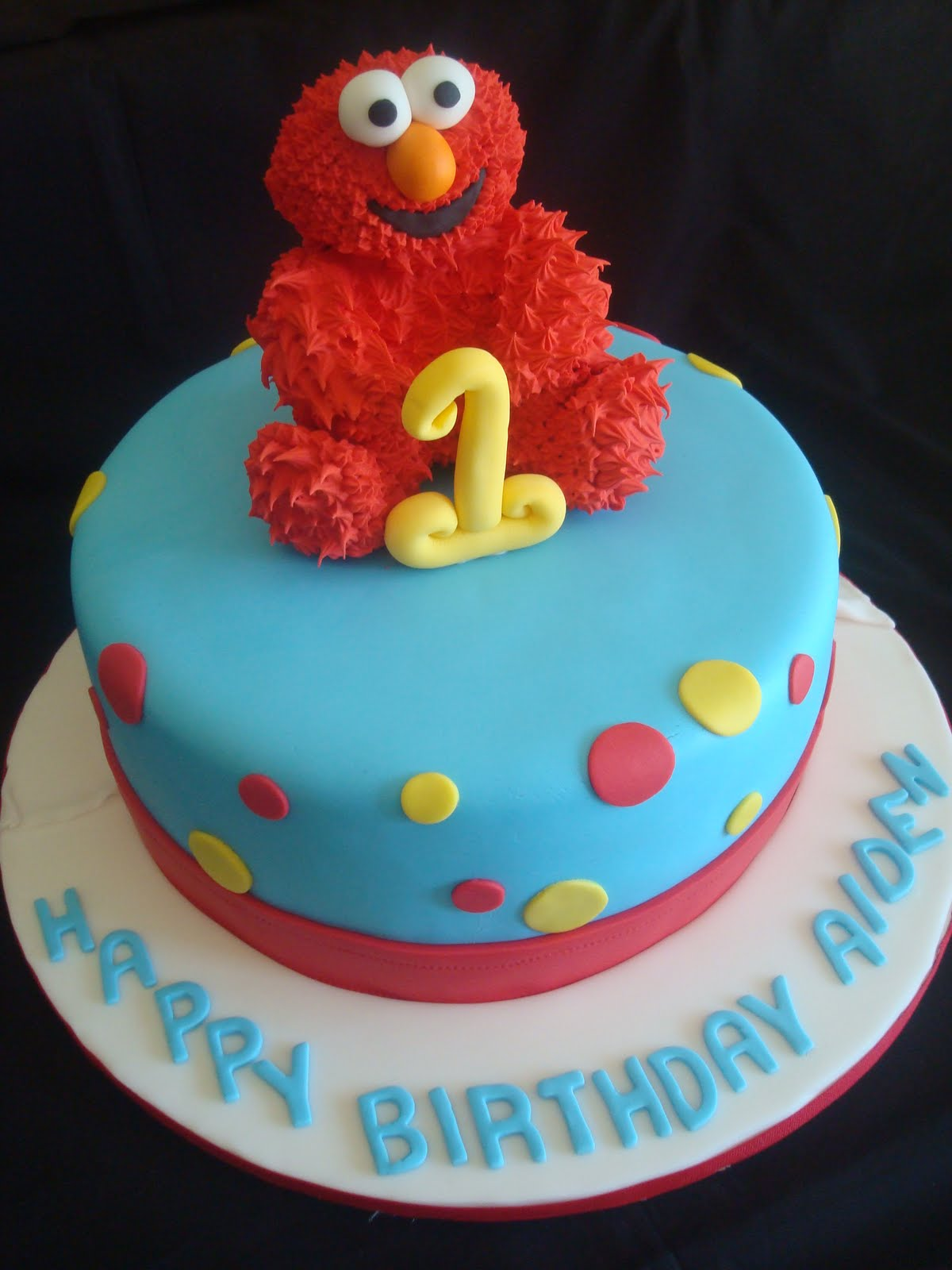 Pink Little Cake Elmo Cake Elmo Cookie Favors and Mini Elmo Cake