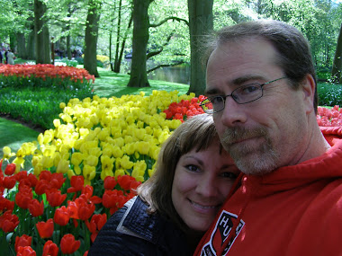 With Kim at Kuekenhof Garden in the Netherlands