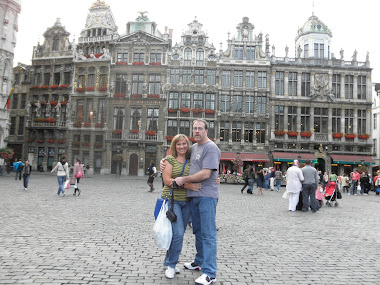 Kim and I at Grand Place in Brussels