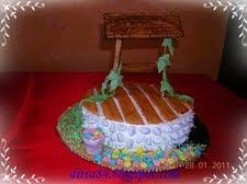 Díszkút torta