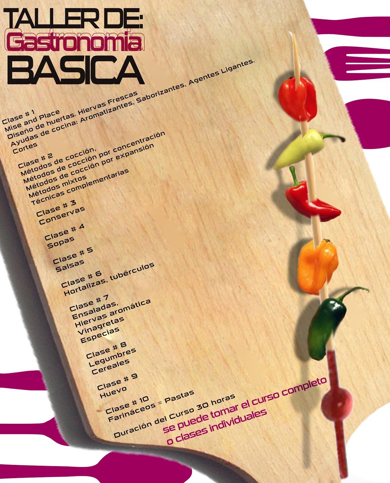 Condimentando caminos taller de cocina basica primera clase for Curso de cocina basica pdf