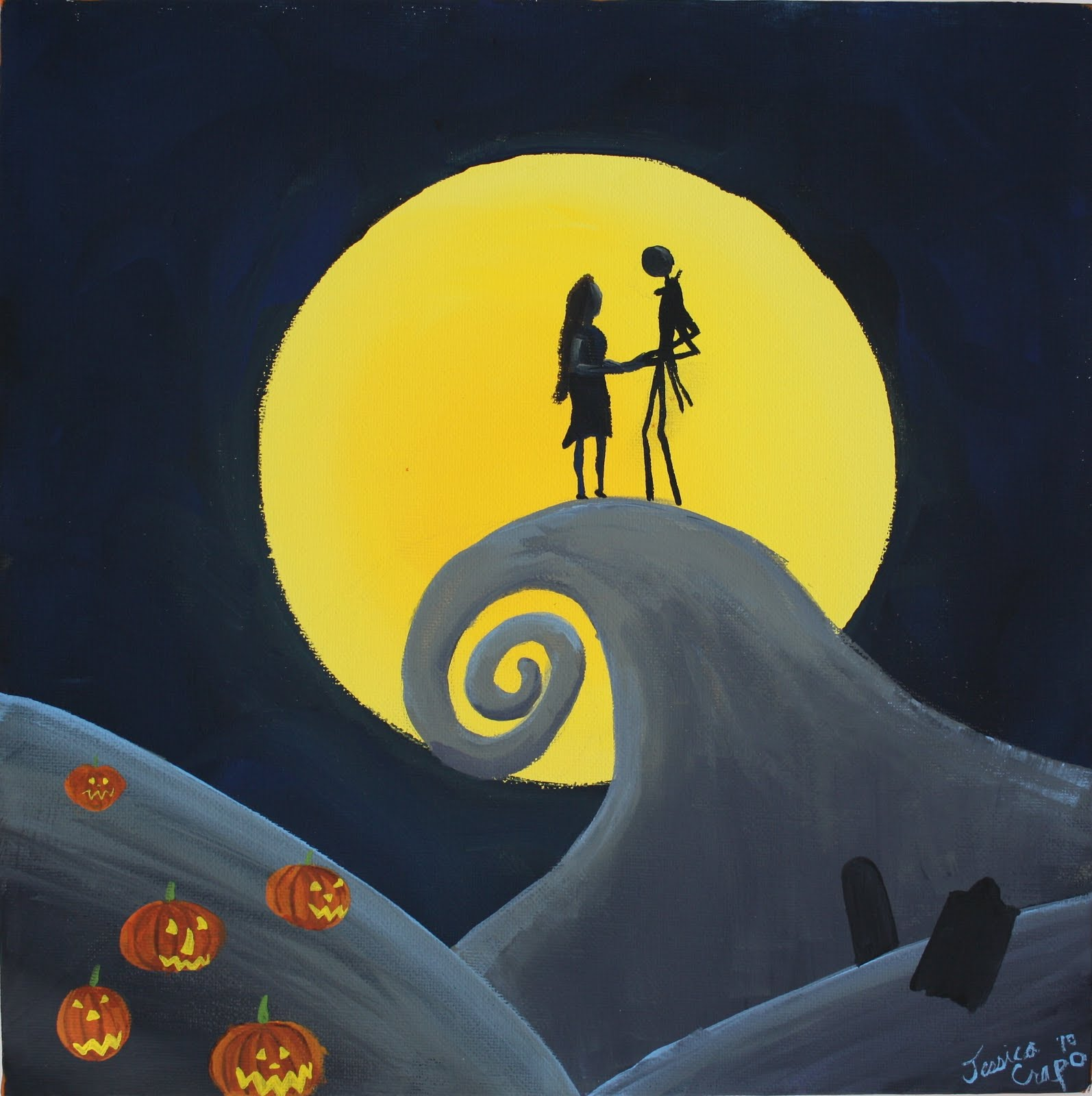 Running with scissors nightmare before christmas painting nightmare before christmas painting solutioingenieria Gallery