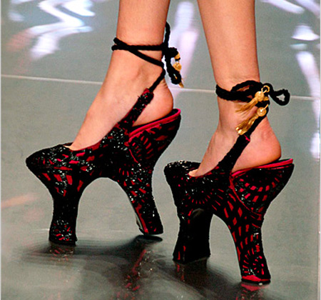 lady gaga weird shoes. Lady Gaga#39;s High Heels.