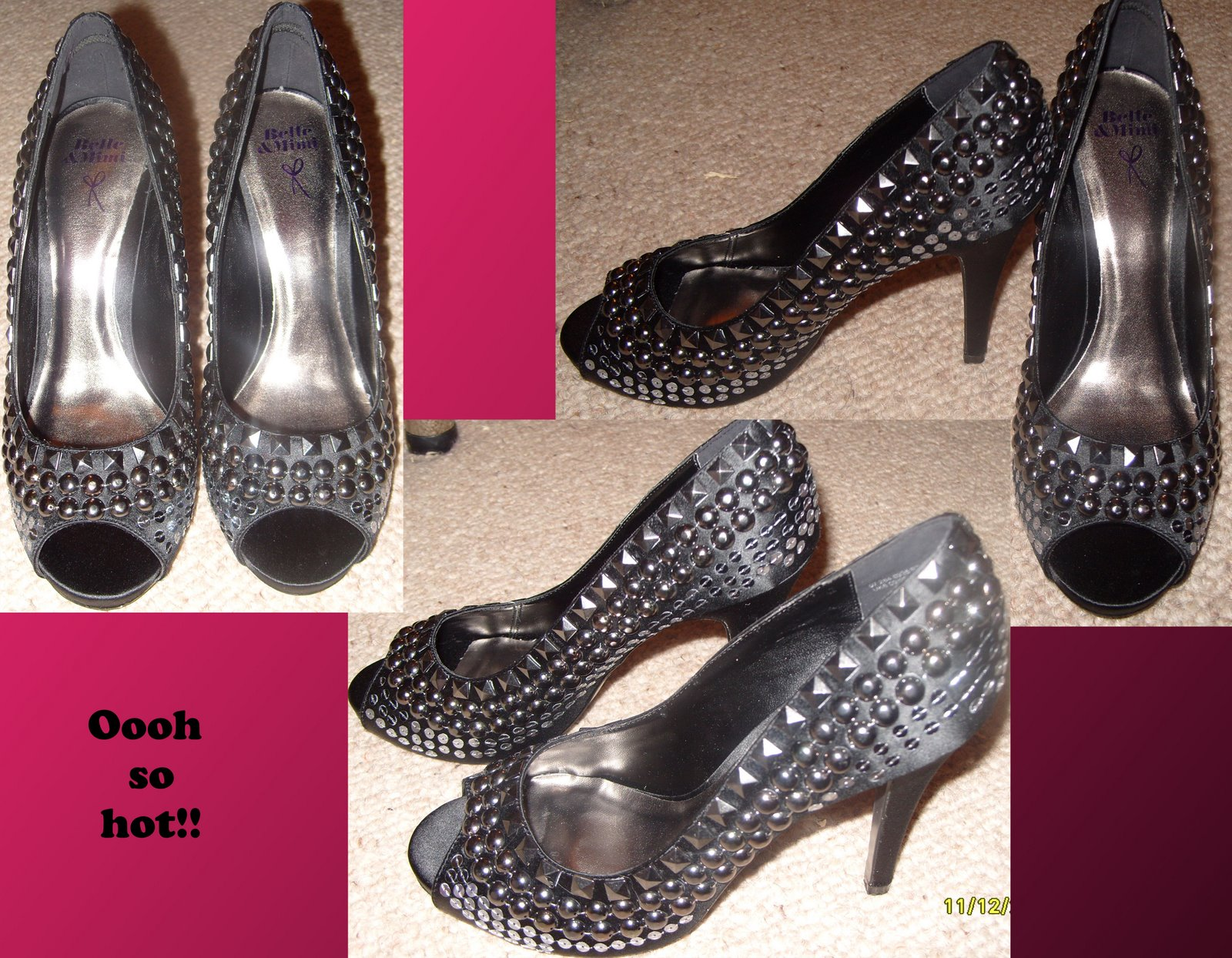 stud shoes rodarte black