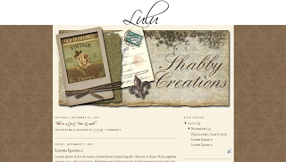 Cute Shabby Creations Blogger Templates