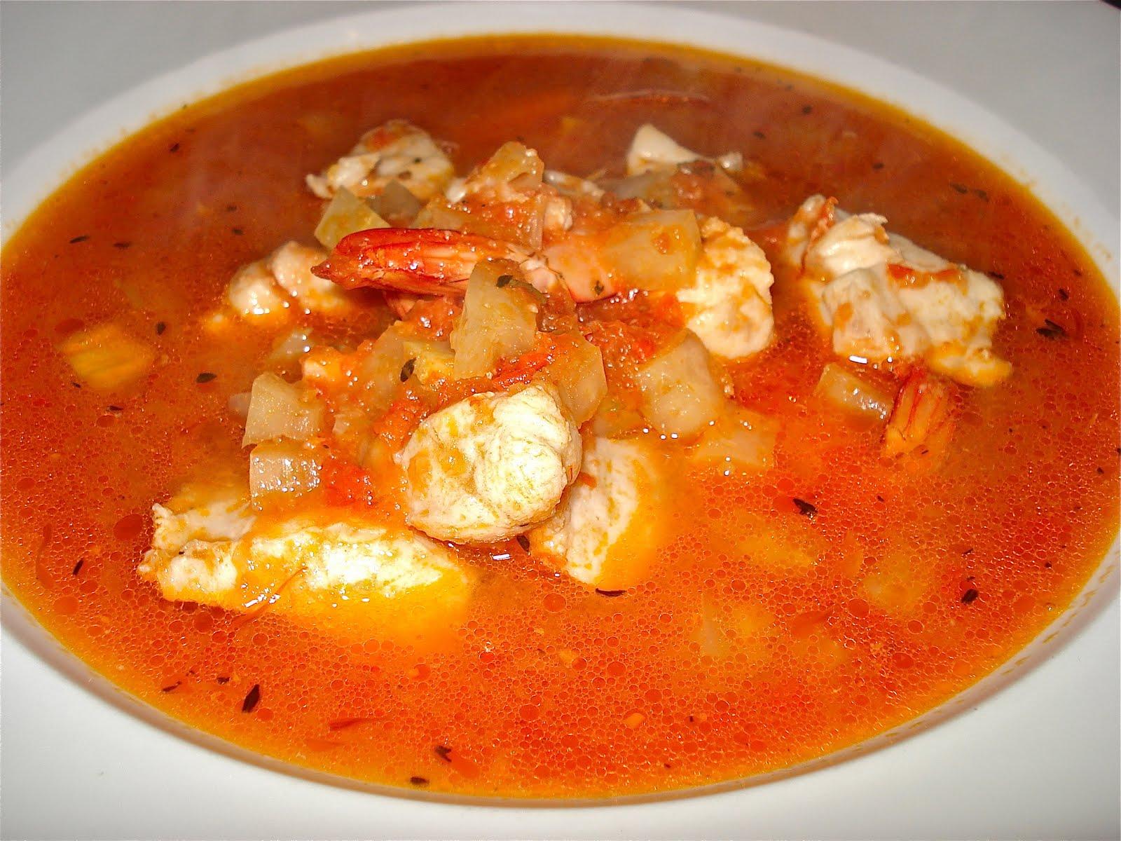 Behind the burners reef cod prawn fennel stew for Fish soup recipe cod