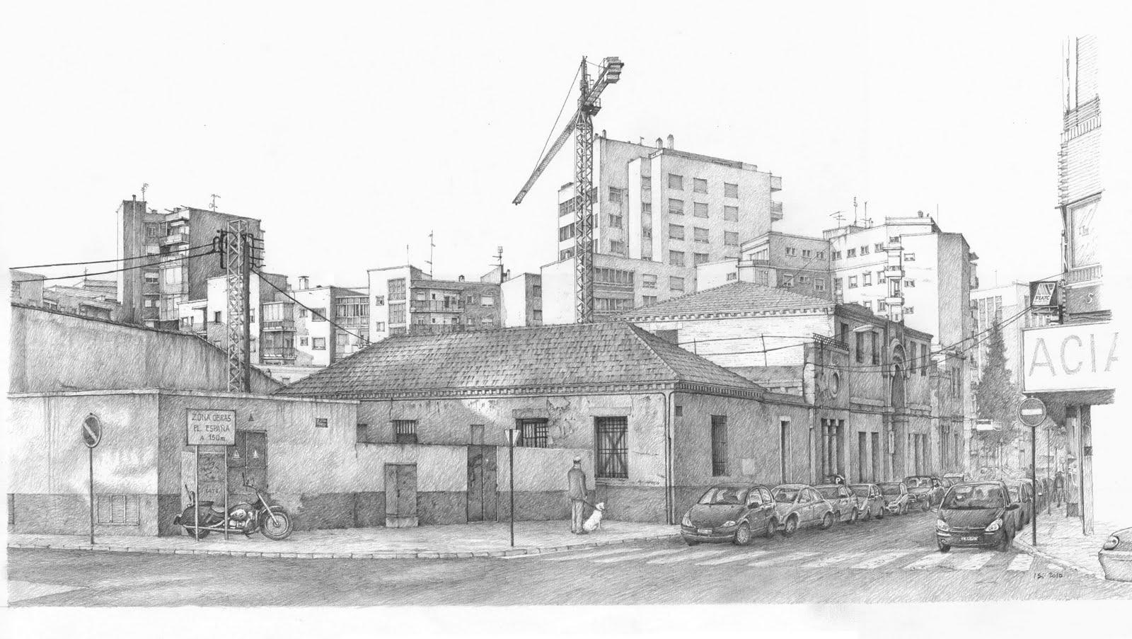 Dibujando arquitecturas isi dibujos de la ciudad de cartagena - Casas dibujadas a lapiz ...