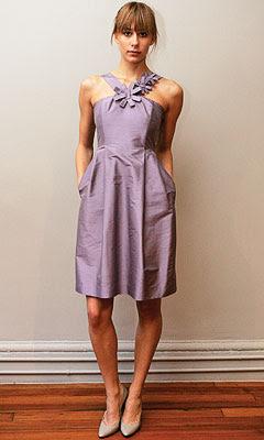 Lavender dress what color shoes