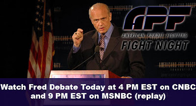 fred thompson debate republicans