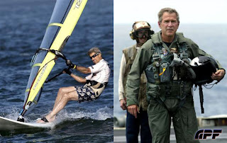 john kerry windsurfing george bush pilot hero