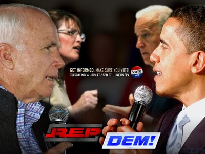 john mccain, barack obama, sarah palin, joe biden, town hall, debate, wallpaper