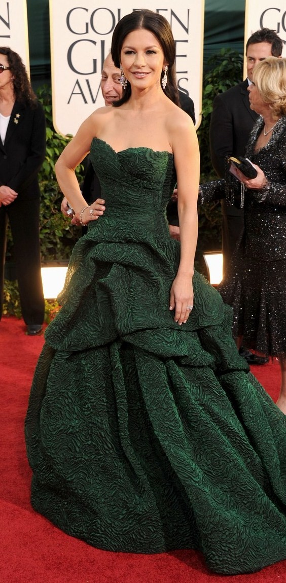 Golden Globes Catherine Zeta Jones. CATHERINE ZETA-JONES - A