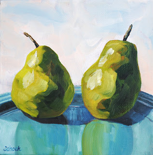 pear oil painting