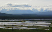 Alaska Range/Tanana River~July 26, 2009