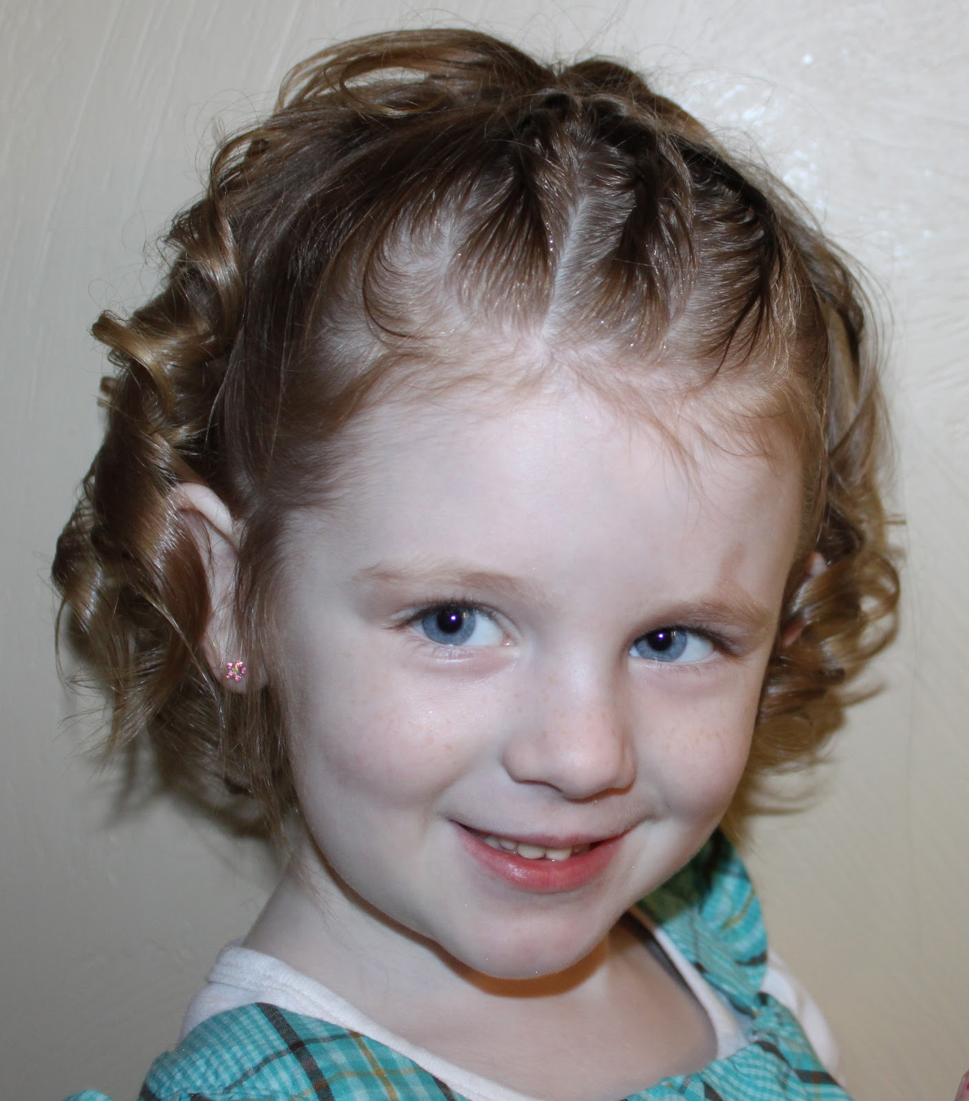 Hairstyles for Girls.. The Wright Hair: Toddler 3 rolls to Sides Up