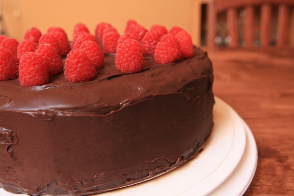 The Lunchbox Tree: Chocolate-Raspberry Layer Cake