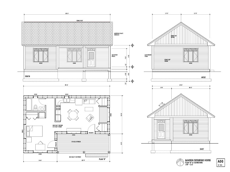 the maison scoudouc house plan d is designed as a small 688 sq ft one title=