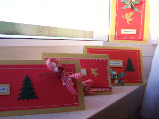 Christmas cards - collection red&gold