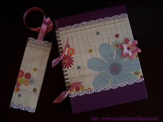 Notatnik w kwiatki