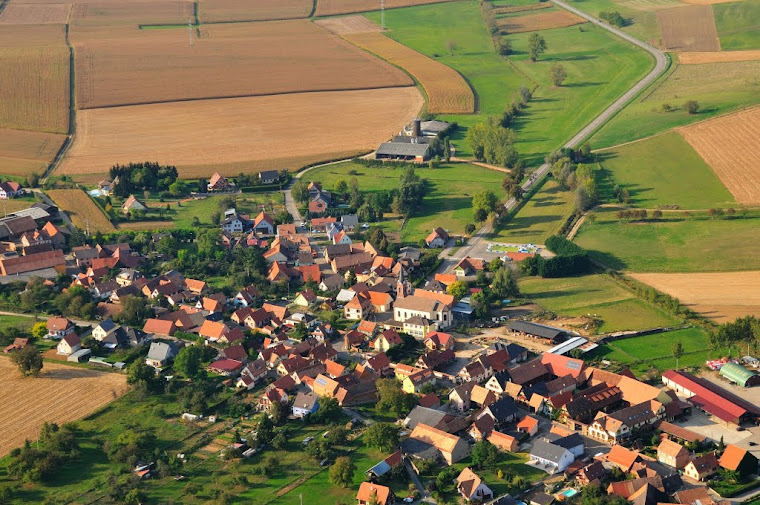 Bossendorf, vue du ciel