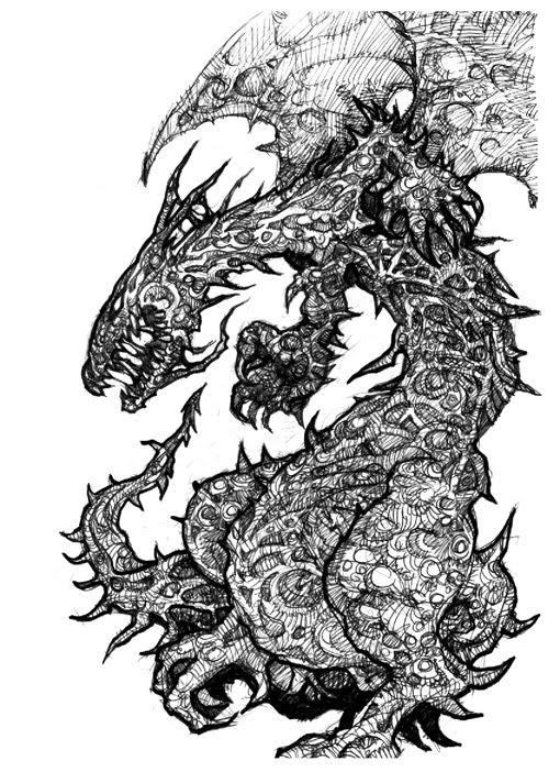 Dibujantes Cordobeses: Un par de dragones... (bahh uno sólo el ...